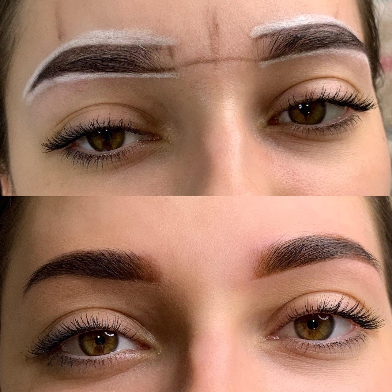 Брови - перманентный макияж
